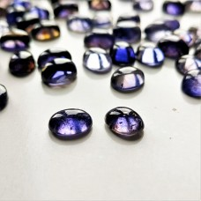 Iolite 9x7mm Oval Cabochon Pair