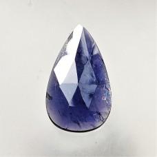 Iolite Sunstone 26x14mm Rose Cut Drop Gemstone