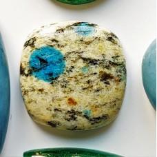 K2 Azurite 19mm Square Gemstone