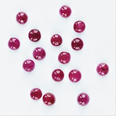 Ruby 3.5mm Round Cabochon 16 piece lot