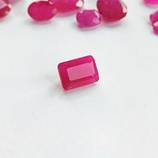 Ruby 7.1x5mm Emerald Cut Gemstone