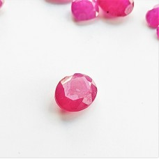 Ruby 7.9x6.4mm Oval Faceted Gemstone