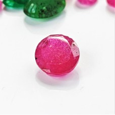 Ruby 7.7x6mm Oval Faceted Gemstone