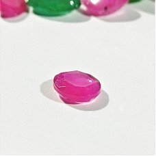 Ruby 5.5x4.5mm Oval Faceted Gemstone