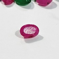 Ruby 5.7x3.8mm Oval Faceted Gemstone