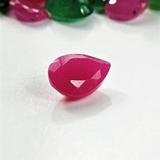 Ruby 7.1x5mm Drop Cut Faceted Gemstone