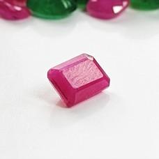Ruby 6.4x4.4mm Emerald Cut Gemstone