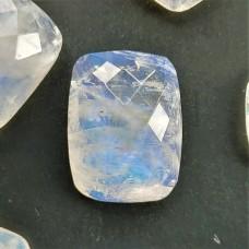 Rainbow Moonstone 16x12mm Rectangular Rose Cut Gemstone