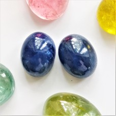 Sapphire 8.5x6.6mm Oval Cabochon Pair