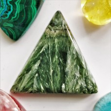 Seraphinite  35x28mm Triangular Cabochon