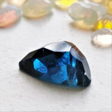 Blue Tourmaline 10x7.5mm Triangular Rose Cut Gemstone