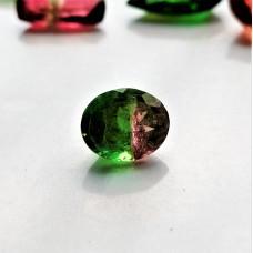 Tourmaline (Bi-Color) 8x6.5mm Oval Faceted Gemstone