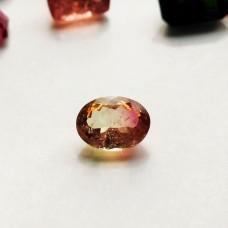 Tourmaline (Bi-Color) 8.2x6.1mm Oval Faceted Gemstones