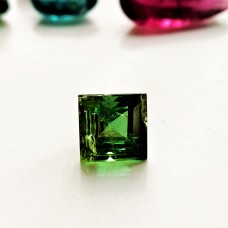 Tourmaline  6mm Square Faceted Gemstone