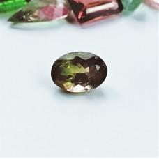 Tourmaline (Bi-Color) 8.4x6.2mm Oval Faceted Gemstone