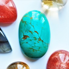 Turquoise (Persian) 29x19mm Oval Cabochon
