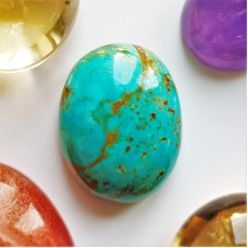 Turquoise (Persian)  18x14mm Oval Cabochon