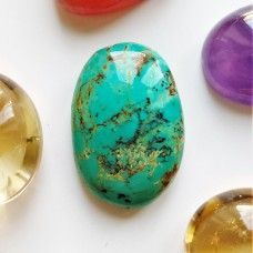 Turquoise (Persian)  20x13mm Oval Cabochon