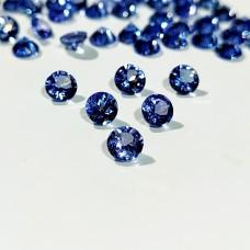 Tanzanite 4mm Round Faceted Gemstone x 6