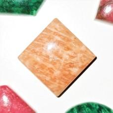 Red Amazonite 15mm Square Cabochon