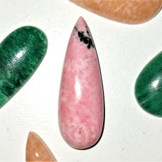 Rhodonite 30x10mm Drop Cut Cabochon
