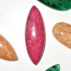 Rhodonite 30x10mm Marquise Cut Cabochon