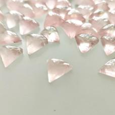 Rose Quartz 9mm Triangular Cabochon