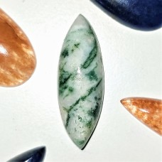 Tree Agate 30x10mm Marquise Cut Cabochon