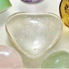 Quartz Crystal 30x25mm Heart Shaped Cabochon