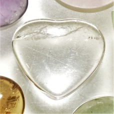 Quartz Crystal 22x20mm Heart Shaped Cabochon