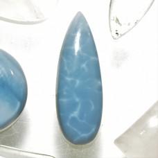 Blue Opal 30x10mm Drop Cut Cabochon
