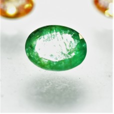 Emerald 9.2x7mm Oval Faceted Gemstone