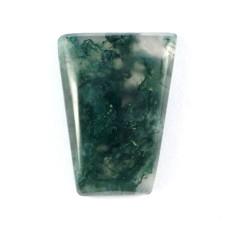 Moss Agate 20x15mm Trapezium Cut Gemstone Cabochon