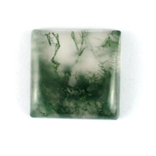 Moss Agate 15mm Square Loose Gemstone Cabochon