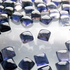 Iolite 6mm Square Gemstone Cabochon Pair