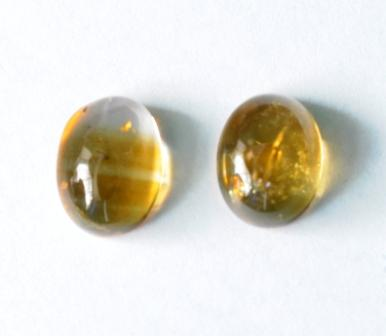 8x6mm Citrine Gemstone. I have one of these in my wallet.